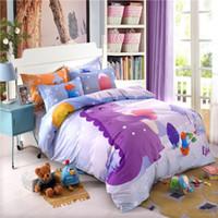 algodón puro 8 piezas niños lindo juego de cama con sábana funda de almohada colcha cubierta de la muchacha del muchacho los niños del lecho