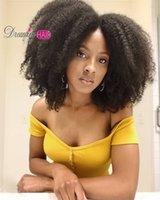 Afro Kinky Curly Renda Frente Peruca Cabelo Humano 13x4 Parte Profunda parte Lace Frontal Fechamento Wig Peruca Brasileira Brasileira Para As Mulheres 150dity