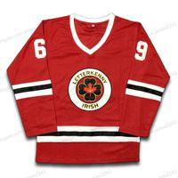 Envíe desde los Estados Unidos # 69 Shoresy Hockey Jersey TV Series Letterkenny Irish Jerseys Todos cosidos Red S-3XL