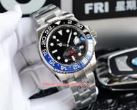 6 Estilo Melhor Qualidade KS Maker 904 Aço 40mm GMT Batman 126719 126710 116710 116713 Swiss ETA 2836 Movimento Automático Mens Watch Watches