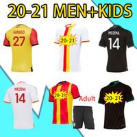 Yeni 20 21 RC Lens Futbol Formaları Maillot De Ayak Fofana Ganago Kakuta Özel Kiti Ev Uzaktan Üçüncü Dördüncü Erkekler Kids Kiti Futbol Gömlek