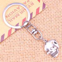 NOUVEAU Mode Keychain 21x16mm Squelette Skeleton Pendentifs Crâne DIY Hommes Bijoux Voiture Voiture Chaîne Bague Souvenir Pour cadeau