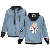 Erkek Ceketler Anime Re Kapüşonlu Kot Ceket Erkekler Giysileri Moda Rahat Kovboy Denim Mont Jaqueta Masculino Streetwear Cosplay1