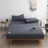 Copriletto con materasso in lamiera a quadri in cotone 100% Copertura a quadri con quattro angoli con biancheria da letto elasticizzata all-cland 1