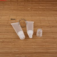 50 adet / grup Promosyon 8g Plastik Boş Dudak Tüpü Kadın Kozmetik Konteyner Küçük Ruj Şişe Yumuşak Mini 8 ML BLAM Pothigh Quatity