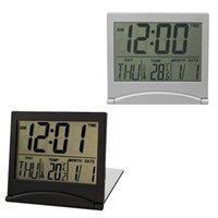 Calendario digital LCD LCD Digital Digital Reloj de escritorio Escritorio Tiempo Escritorio Temperatura Ectronic Hogar Mini Relk1