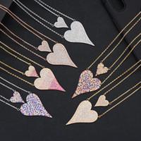 De moda delicado regalo del día de madre Collar Gargantillas inicial personalizada Corazón apilable collares para las mujeres novia Wife regalos