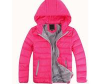حار 2021 طفل قميص الصبي وفتاة الشتاء مقنع معطف الأطفال القطن مبطن أسفل سترة أطفال جاكيتات 3-12 سنوات أسود أبيض