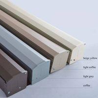 Fyra färger dammskydd Vitstråle och metallgrå skuggning Slot rullgardiner Tillbehör T200601