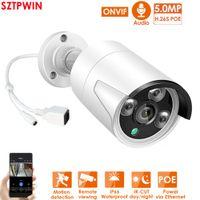 H.265 + 5MP PoE الأمن نظام كاميرا كيت سجل الصوت RJ45 3MP 5MP IP كاميرا في الهواء الطلق للماء CCTV مراقبة الفيديو NVR كيت مع 1TBHDD