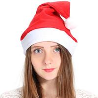 Красный Санта-Клаус Hat Ультра мягкий плюш Рождество Косплей шапки Рождественские украшения взрослых Рождественская вечеринка Шляпы