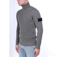 Herren Designer-Pullover 2020 Herbst Winter Männer Pullover Retro Mode Pullover hoher Kragen Bequeme asiatische Größe Arm Stickerei Jumper
