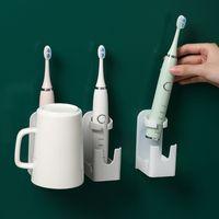 1PC 유니버셜 트랙리스 스탠드 랙 칫솔 주최자 전기 칫솔 벽 장착 홀더 공간 저장 욕실 accessorie