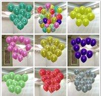 100 unids Lote 1.5g Globo de látex de perla inflable para decoraciones de boda Suministros de fiesta de bola de aire Feliz cumpleaños VJDFS QDTNO