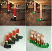 Santa Claus Leg Chair Foot Covers Lovely Table Decor Christm...