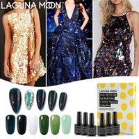 Lagunamoon 8ml * 6Pcs Set Brilhante Noite Tema Gel Polish UV LED Longa Duração Soak Off Varnish Laca Manicure Kit