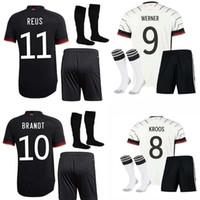 ألمانيا 2020 2021 Soccer Jersey Home Away Kit Hummels Kroos Draxler Reus Muller Gotze Kimmich Gundogan 20 21 كرة القدم قميص الرجال + أطفال كيت