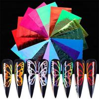 Gradients Mode Nail Sticker Butterfly Flamme Type Modèle Multi Color Dame Dame Manucure Décalages Décalages Art Décoration Nouveau 4 9LF L2