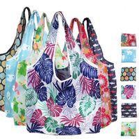 Многоразовый моющийся Бакалея Складная сумок Большой Прочный легкий Бакалея сумка водонепроницаемый Оксфорд сумка с застежкой-молнией