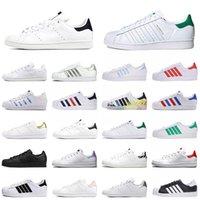 2021 Nueva moda para hombre para mujer zapatos casuales planos Stan Smith Superstar Triple Superstars Fashion Platform Sneakers al aire libre 36-45