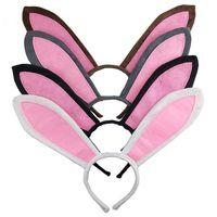 Pascua conejito orejas itury diadema para niñas accesorios para niñas bebé niña diademas pelo grande oído clips pelo aro partido niños mujeres cabezas gg12205