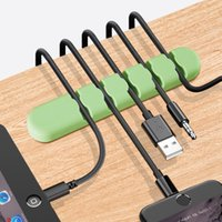 전화 충전 코드 케이블 데이터 라인 이어폰 마우스 DHL 5 슬롯 케이블 주최자 USB 케이블 와인 더 관리 클립 홀더 3M 접착제
