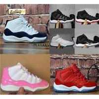 Melhor XI 11S Crianças tênis de basquete Gym Red infantil Children Criança Gamma azul Concord 11 Trainers Boy Girl Tn Sneakers Space Jam Criança Crianças