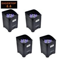 Большая Продажа свободный перевозко груз 4 х 6Вт 6in1 RGBAW + UV батарейки беспроводной DMX LED Par Stage Свет для DJ освещения события