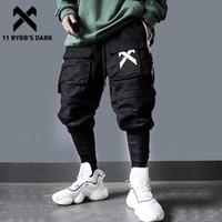 11 Bybb's Dark Cartachable Multi-Pocket Cargo брюки Мужчины Harajuku Hip Hop Streetwear Joggers Человек Эластичные талии Стримовые штаны Techwear 201116