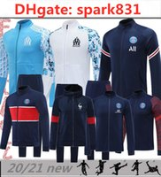 2021 Kit de football olympique de Marseille Tracksuit 20/21 Payet L.Gustavo Thaauvin Training Costume OM Marseille Maillot de Foot Cabella Maillots