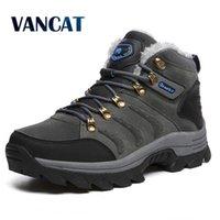 Vancat Große Größe Neue Männer Stiefel für Männer Winter Schnee Stiefel Warme Furplush Lace Up High Top Mode Männer Schuhe Sneakers Boots 201204
