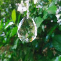 5pcs Chandelier Crystals Prism 2 fori pendenti in cristalli appesi per soffitto basso fai da te Suncatcher Home Decor di nozze Accessori H Jllaut