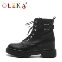 Oleka New Winter Winter Boots Medio-vitello Square Tacco Decorazione in metallo Stivali di pelliccia Stivali per il tempo libero Basic Toe Round Pelle AS653