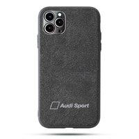 Tourner la fourrure Audi Sport Coffres de portable pour Apple iPhone 12mini 12 11 Pro Max 6 6s 7 8 Plus x XR XSmax SE2 Samsung Galaxy S8 S9 S9 S10 Note 9 SHELL COUVERTURE BMW