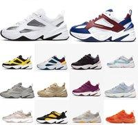 Zoom M2K Tekno عارضة أحذية الرجال النساء مكتنزة أحذية رياضية الجو رمادي أسود أبيض نقي البلاتين الشراع البرقوق الطباشير رجل الأزياء المدربين