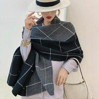 2020 Высококачественный Зимний Шарф Для Женщин Шали Обертывающие Мода Пледы Теплые Густые Кашемировые шарфы Леди Бандана