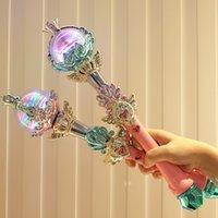 Étoile baguette magique avec les enfants de musique légère cos cadeau jouet sceptre rêve jeu reine Deux option de