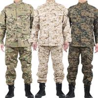 Mens uniforme tattica di combattimento Abbigliamento Camicia Camouflage Army Militar soldato delle Forze Speciali Coat + Pant Set Maxi XS-2XL