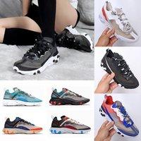 2020 reagieren Element 87 55 Laufschuhe für Frauen der Männer-Pack weiße Turnschuhe Marke Männer Frauen Trainer Männer Frauen Designer Laufschuhe Schuhe