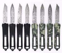 Black Camo A163 Damascus Pattern 8 Модели Двойные действия Тактический автоматический Автоматический карманный Складной EDC Нож Охотничьи Ножи на открытом воздухе Инструменты