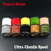 10 катушек / лота Multi Colours Rayon Chenille пряжа / 2 мм Мишующая линия Chenille пряжа Всего 180 м для стримера / Nymphal Bugs Mults 201114