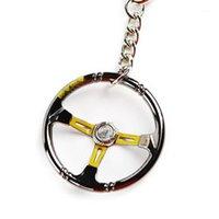أزياء البسيطة شكل سبائك الزنك سباق السيارات عجلة القيادة المفاتيح كيرينغ معلقة السيارات اكسسوارات السيارات مفتاح سلسلة Ring1