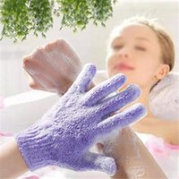 Guanti da bagno Asciugamani da mano, esfoliante idratante Scrub Mud Back Brush Brush Diable-Sided Spa Massage Body Care Imballaggio indipendente