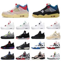 4 4s Jumpman Men Shoes Shoes Union Negro Uava Ice Sail Neon Metallic Pack Cement Cactus Jack Trainers Zapatillas deportivas al aire libre