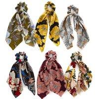 Saç Aksesuarları Vintage Yaylar Kızlar için Kafa Scrunchies Bandana Bant Kadın Kafa Bantları Hairband Diademas Kravatlar Scrunchie Paketi