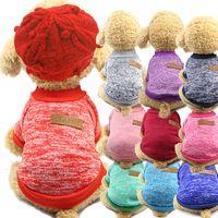 T-shirts pour animaux de compagnie Gardez des vêtements chauds de chien Top chemises Vest de coton vêtements chien chiot petit chien vêtement pas cher