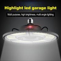 창고에 대한 뜨거운 판매 E27 LED 변형 가능한 접이식 차고 램프 슈퍼 밝은 산업용 조명 60W 80W 100W UFO 높은 베이 산업 램프
