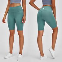 جديد ارتفاع الخصر الرياضة اللياقة البدنية خمس نقاط السراويل النساء على الوجهين الرملي سليم الجسم اليوغا السراويل ممارسة التدريب المتوسطة السراويل السراويل طماق L-69
