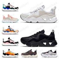 2021 Sıcak Moda Kadınlar RYZ 365 Hafif Yumuşak Koşu Ayakkabıları Erkek Sneakers Tüm Siyah Beyaz Pembe Turuncu Trainers Koşucular Racer