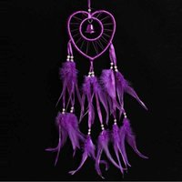 Heart Dreamcatcher With Beads Feather Car Wall Hanging Decor...